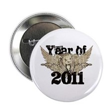 "Year of 2011 Winged Lion 2.25"" Button"