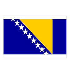Bosnia Bosnian Blank Flag Postcards (Package of 8)