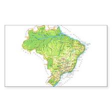Brazil Map Decal