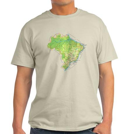 Brazil Map Light T-Shirt