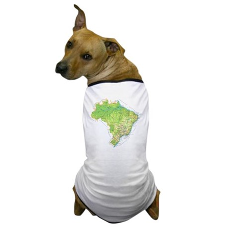 Brazil Map Dog T-Shirt