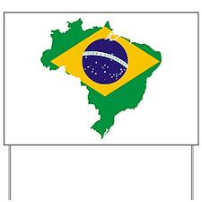 Brazil Flag/Map Yard Sign
