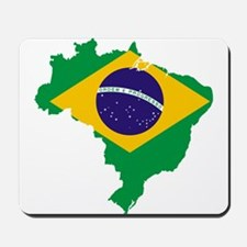 Brazil Flag/Map Mousepad
