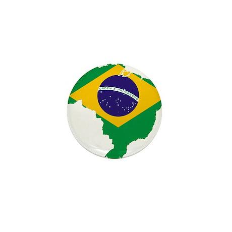 Brazil Flag/Map Mini Button (10 pack)