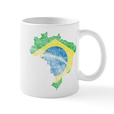 Brazil Flag/Map Distressed Mug