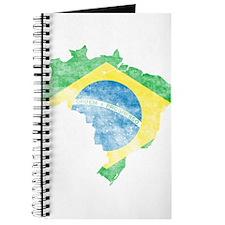Brazil Flag/Map Distressed Journal