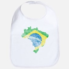 Brazil Flag/Map Distressed Bib