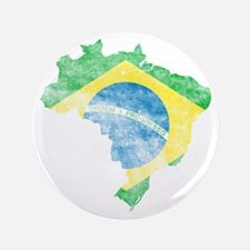 """Brazil Flag/Map Distressed 3.5"""" Button"""