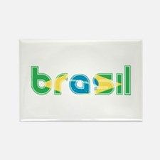 Brazil Flag in Name Rectangle Magnet (10 pack)