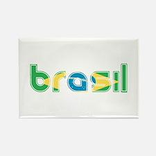 Brazil Flag in Name Rectangle Magnet