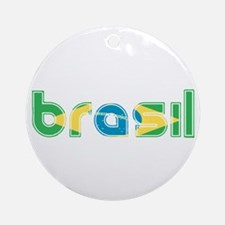 Brazil Flag in Name Ornament (Round)
