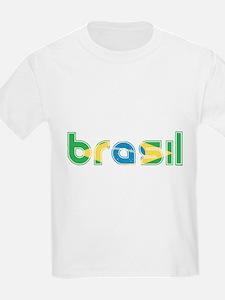 Brazil Flag in Name T-Shirt