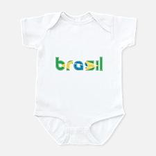 Brazil Flag in Name Infant Bodysuit