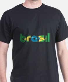 Brazil Flag in Name T-Shirt