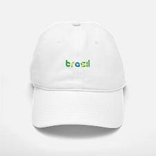 Brazil Flag in Name Baseball Baseball Cap