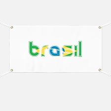 Brazil Flag in Name Banner