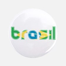 """Brazil Flag in Name 3.5"""" Button (100 pack)"""