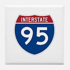 Cute Interstate Tile Coaster