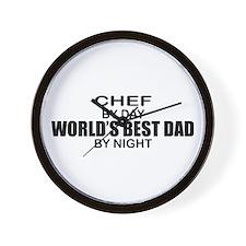 World's Best Dad - Chef Wall Clock