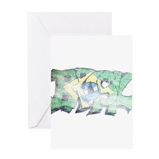 Brasil Grafitti Greeting Card