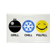 Grill Chill Fulfill Rectangle Magnet
