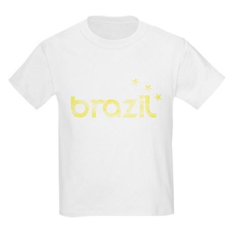 Brazil Three Stars Kids Light T-Shirt