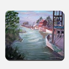 """""""Workboats at Rest"""" Mousepad"""