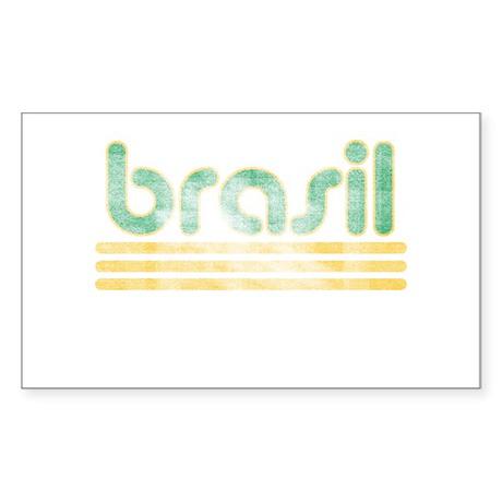 Brasil Three Yellow Lines Sticker (Rectangle)