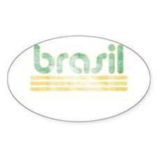 Brasil Three Yellow Lines Decal