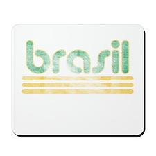 Brasil Three Yellow Lines Mousepad