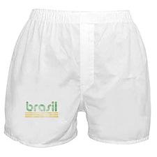 Brasil Three Yellow Lines Boxer Shorts