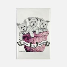GrandDogs!!! Rectangle Magnet (100 pack)