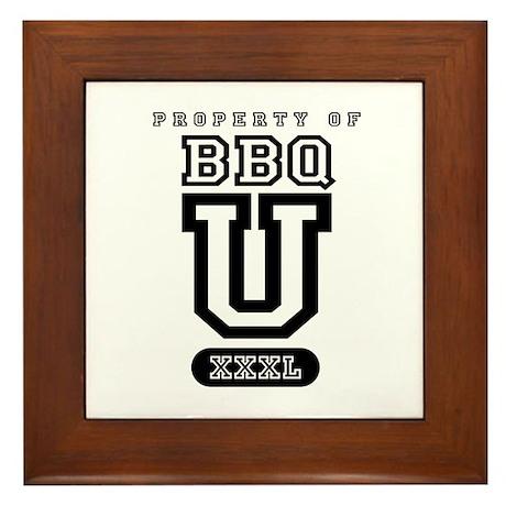BBQ U Framed Tile
