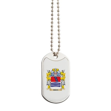Ribes Family Crest - Coat of Arms Dog Tags