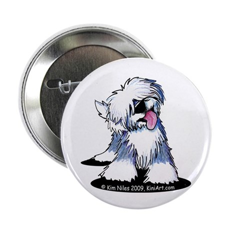 "Curious OE Sheepdog 2.25"" Button (10 pack)"