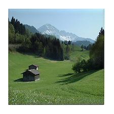 Austrian Alps Tile Coaster