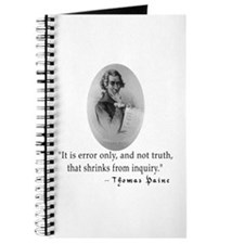 Thomas Paine Truth Quotation Journal