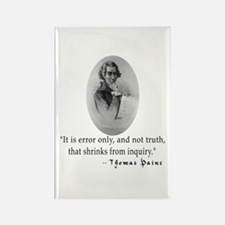 Thomas Paine Truth Quotation Rectangle Magnet