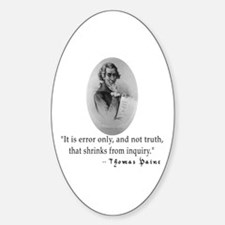 Thomas Paine Truth Quotation Oval Decal