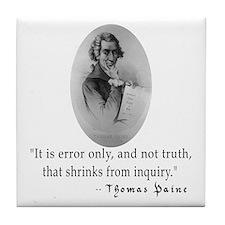 Thomas Paine Truth Quotation Tile Coaster