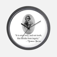 Thomas Paine Truth Quotation Wall Clock