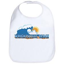 Wrightsville Beach NC - Waves Design Bib