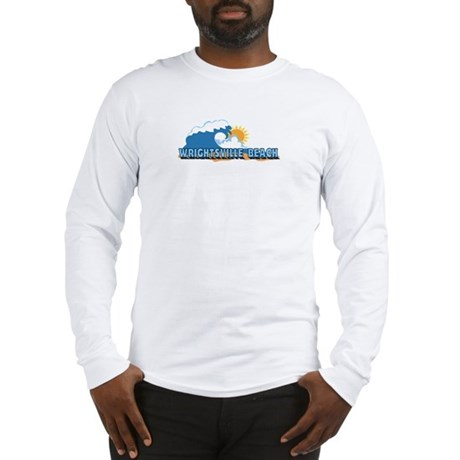 Wrightsville Beach NC - Waves Design Long Sleeve T