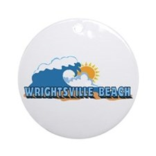 Wrightsville Beach NC - Waves Design Ornament (Rou