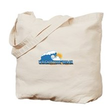 Wrightsville Beach NC - Waves Design Tote Bag