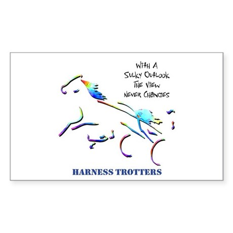 Harness Trotters Rectangle Sticker