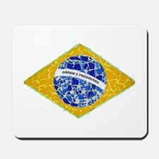 Brazil Flag Tiles Mousepad
