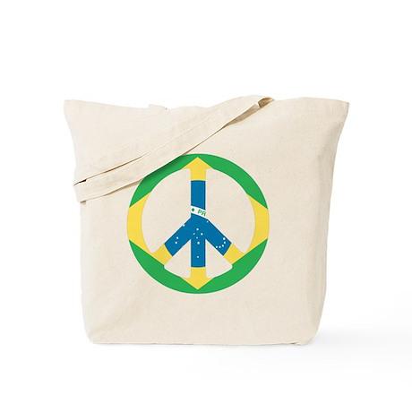 Brazil Peace Flag Tote Bag