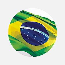 """Brazil Flag 3.5"""" Button"""