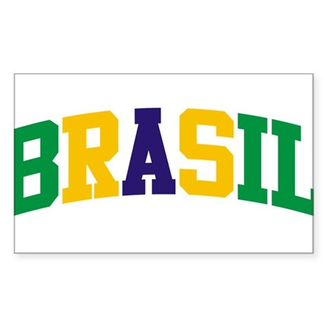 Brasil Green Yellow Blue Sticker (Rectangle)